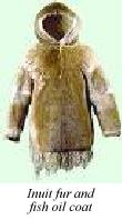 Inuit fur and fish oil coat